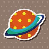 Uzay planet Tema öğeleri — Stok Vektör
