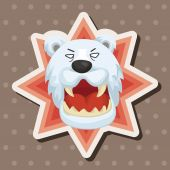 Animal polar bear cartoon theme elements — Stock Vector