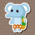 Animal elephant summer cartoon theme elements — Stock Vector #71471829