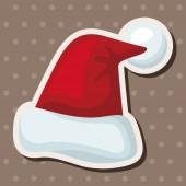 Christmas hat theme elements — Stock Vector
