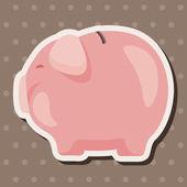 Piggybank theme elements — Stock Vector