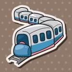 Transportation train theme elements — Stock Vector #71488403
