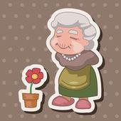 Family grandmother character theme elements — Stockvektor