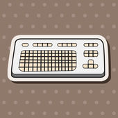 Computer-related equipment keyboard theme elements — Stock Vector