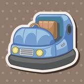 Playground bumper car theme elements — Stock Vector