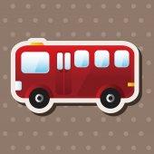 Transportation bus theme elements — Stockvektor