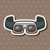 Laboratory goggle  theme elements  — Stock Vector