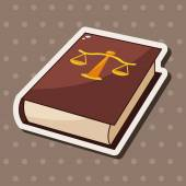 Law book theme elements — Stock Vector