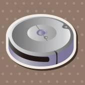 Home appliances theme vacuum cleaner elements — Stockvektor