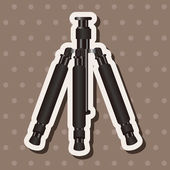 Camera tripod theme elements — Stock Vector
