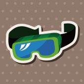 Beach equipment goggles theme elements — Cтоковый вектор