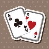 Casino poker card theme elements — Stock Vector