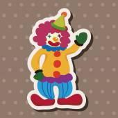 Amusement park clown theme elements — Stock Vector