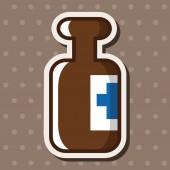 Medical bottle theme elements — Stock Vector