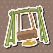 Playground swing theme elements — Stock Vector