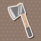 Work tool axe theme elements  — Stock Vector