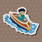 Water Sports theme elements — Stock Vector