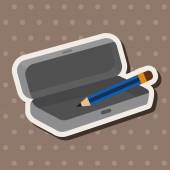 Pencil case theme elements — Stock Vector