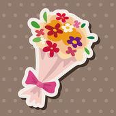 Birthday flower theme elements — Stock Vector