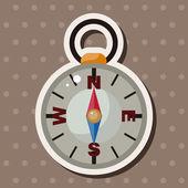 Travel equipment compass theme elements — Stock Vector