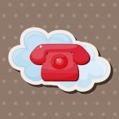 Telefon simgesi Tema öğeleri — Stok Vektör