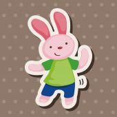 Animal dancing cartoon theme elements — Stock Vector