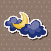 天気予報月テーマ要素 — ストックベクタ