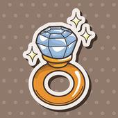 Diamond ring theme elements — Stock Vector
