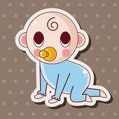 人性格宝宝主题元素 — 图库矢量图片