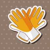 Working gloves theme elements — Stock Vector