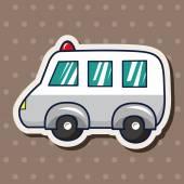 Transportation ambulance theme elements — Vettoriale Stock