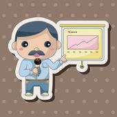 Office pracovníci motivu — Stock vektor