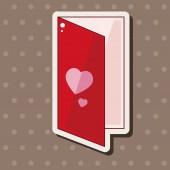 Elementos do tema carta de amor — Vetor de Stock