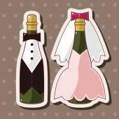 Champagne theme elements — Stock vektor