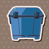 Fishing box theme elements — Stock Vector
