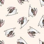 Swan Boats , cartoon seamless pattern background — Stock Vector #73665271