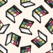 Cosmetics , cartoon seamless pattern background — Stock Vector