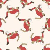 Sport soccer player , cartoon seamless pattern background — Stock Vector