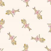 Ballet dancer , cartoon seamless pattern background — Stock Vector