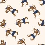 Wolf in three Little Pigs , cartoon seamless pattern background — Stock Vector #73692247