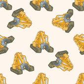 Transportation excavator truck , cartoon seamless pattern background — Stock Vector