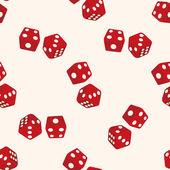 赌场骰子,卡通无缝图案背景 — 图库矢量图片