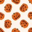 Halloween pumpkin , cartoon seamless pattern background — Vecteur #73707745