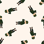 Policeman , cartoon seamless pattern background — Stock Vector
