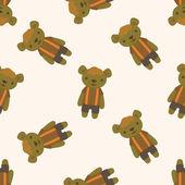 Bear , cartoon seamless pattern background — Stock Vector