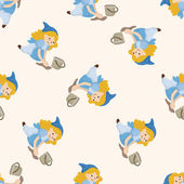 Fairytale prinsessa, tecknade seamless mönster bakgrund — Stockvektor