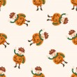Halloween party costume , cartoon seamless pattern background — Vecteur #73712497
