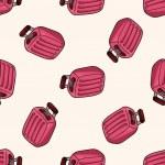Travel bag , cartoon seamless pattern background — Stock Vector #73716425
