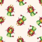 Chinese Zodiac dragon , cartoon seamless pattern background — Stock Vector