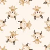 Constellation Aries , cartoon seamless pattern background — Stock Vector